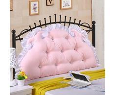 CX-PILLOW Cotone Letto Cuscino grande cuscino morbido cotone principessa letto sul retro di un lungo doppio cuscino con nucleo estraibile lavabile core Moda cuscino bello ( colore : A4 , dimensioni : 2m )