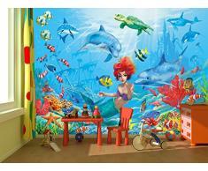 Spiaggia con barca FOTOMURALE- Barca in una baia tappezzeria da parete paradiso - Isola Asia XXL decorazione da parete quadro GREAT ART