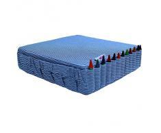 Minene Cuscino di rialzo per bambini, resistente, regolabile e sfoderabile, adatto per sedia o in viaggio, trasportabile come uno zaino, con taschine portaoggetti