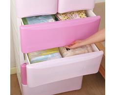 Comfort dei bambini: per la camera del tuo bambino, 4 cassetti grandi e 2 piccoli, in polipropilene, Cassettiera mobile ausiliario