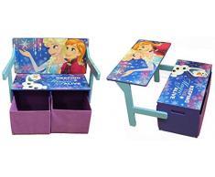 Disney Ice Queen 3 in 1 mobili per Bambini, banco o scrivania con scatole di stoccaggio