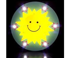 Adorabile Sun-Lampada da soffitto a LED, per camera da letto, cameretta bambino a forma di lampadario da soffitto, cameretta dei bambini