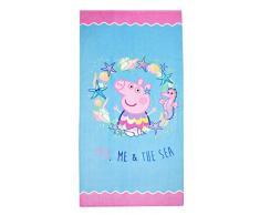 Theonoi - Asciugamano da sauna, telo da bagno per bambini, motivo: Paw Patrol, Peppa PJ MASK Winnie – in cotone, idea regalo (Peppa Pig 1A)