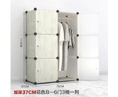 L' armadio Emulazione dell' wood-grain facile per bambini da appendere trendy combinazione armadio finitura armadi DIY Admit, montare
