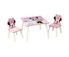 Worlds Apart Minnie: Tavolino con Sgabelli, MDF/Legno, Multicolore, 63 x 63 x 45 cm