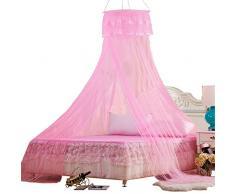 Principessa baldacchino letto a baldacchino baldacchino tenda decorativa Baby baldacchino tenda da gioco Principessa Decorazione Rotondo Rete anti insetti Protezione Bambini