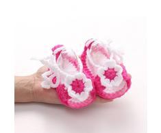 Koly Culla Crochet Casual neonate a mano Knit calzino infantile Scarpe (c)