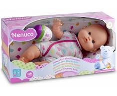 Famosa 700012087 - Nenuco Bambola con Biberon e Vestito Grigio