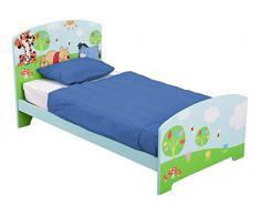 Delta - Lettino in legno per bambini, Blu (Winnie The Pooh), 18+ mesi (fino a 22,67 kg)