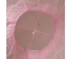 Bodhi2000® Zanzariera rotonda con pizzo stile principessa, tenda a cupola, rete letto a baldacchino