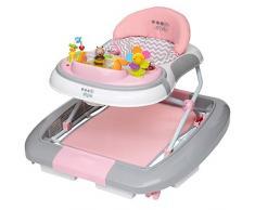 ib style® 3 in 1 Girello per bambini   primi passi   con funzione swing   Luce & Melodia   EN1273:2005   Rosa