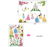 ADESIVO DA PARETE Murale DECORAZIONE WallStickers Camera PRINCIPESSE DF5102