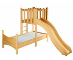 Risparmio Set: Letto Noah con torre e scivolo. Ontano biologica
