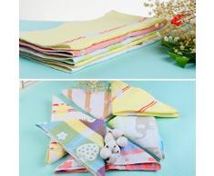 Asciugamani Neonati, Asciugamani Bambini 6 Piezza da 100% Cotone, Asciugamani Bebè 30x30cm con Colori Diversi e Asciugamano per Mamma di YOOFOSS