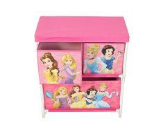Disney Princess - Mobiletto a 2 ripiani, per bambini