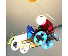Cartoon Classic Cars cameretta lampadario bambini luci sala di studio ciondolo Boy Girl Room Fixtures