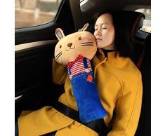 Sede del fumetto della cintura di sicurezza Cuscino Auto Strap Belt coprire con spalline peluche Soft Cover cintura di sicurezza dell'automobile Cuscino per i bambini Bambini Baby - coniglio di stile