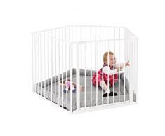 Baby Dan 67114-10400-130 Recinto Park a Kid 5 Materasso Incluso, Bianco