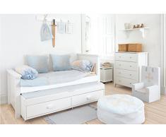 HOPPE Kids Fairytale Knight König schiuma, imbottita sedia con braccioli, 100% cotone Ökotex Certificato, plastica, helblau, 60 x 40 x 60 cm