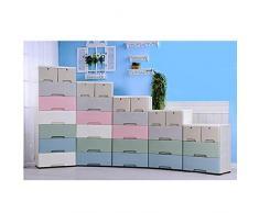 WTY Ispessire Macaron cassetto armadietto di plastica Cinque Secchio Bambini armadietti armadi per Neonati armadi Grande Tesoro,Six