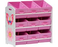 IB-Style - Set di mobili per bambini PAPILLON | 6 combinazioni | Scaffale portaoggetti con 9 Cassetti di tessuto