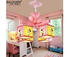 MSAJ-Cartone animato per Bambini originalit¨¤ Design di Moda La principessa Minnie Bella Stanza da letto Rosa, La Ragazza lo Studio soffitto lampadari