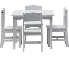 IB-Style - Set di mobili per bambini ENZO | 5 pezzi | Set composto da tavolo per bambini e 4 sedie