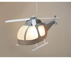 R & M coudert lampada sospensione bambini elicottero grigio