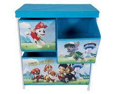 Paw Patrol Blue Chase 2 ripiani 3 cassetti bambini petto giocattolo organizzatore per vestiti armadio mobili per camera da letto