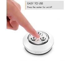 SOAIY 4pcs LED Lampada Wireless Luce Notturna al Tocco Stick-on Ovunque con 3AAA Batterie Funzionate,Lampada per Armadio, Camera da Letto, Macchina, Cucina