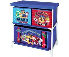 Paw-Patrol blu per bambini 3 vassoio giocattolo mobiletto cassettiera Organizer per camerette e stanze