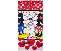 Disney Minnie Asciugamano 70 x 140 cm, Microfibra, Rosso, 70 x 140 cm