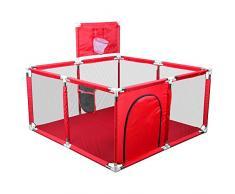 Jedona Recinto Bambini Pieghevole,Box Bambini con Canestro Da Basket Recinto Di Sicurezza Per Bambini Bambini Yard Centro Attività Panno Di Oxford