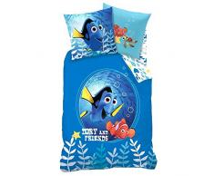 Disney Finding Dory Nemo - Bambini biancheria da letto réversible Dory and Friends 135/200cm