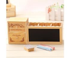 Aili ebhaus cassetto in legno portapenne lavagna carta da lettere bambini scrivania container regali