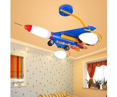 Aereo Bambini Camera da letto LED Lampade a soffitto creative cartoon bambini sala di studio lampade da soffitto in metallo Fighter lampada Fixtures