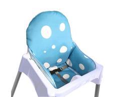 Zarpma Ikea Antilop cuscino per seggiolone, nuova versione coprisedili per seggiolone, più spessa, lavabile e pieghevole, seggiolone inserisci tappetino imbottitura