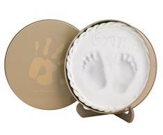 Baby Art 34120158 Magic Box Confezione in Metallo con Pasta Modellabile per Calco delle Manine o dei Piedini Bebè