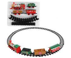 Dilwe Giocattolo dellautomobile della Pista, Automobile del Giocattolo del Treno della Pista della Ferrovia di Corsa Simulata Plastica per Il Regalo di Stile di Natale dei Bambini