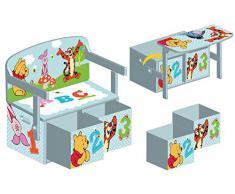 Disney Winnie the Pooh - Panca/scrivania convertibile. Blu