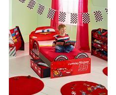 Worlds Apart (Wap) Hellohome: Fulmine Mc Queen Toddler Bed Cars: Lettino Di Fulmine Mc Queen Con Cassettoni, Mdf, Rosso, 64X77X143 Cm
