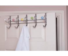 49 x 16 x 15,5 centimetri rispetto acrilico a porta in acciaio gancio / Appendiabiti sfere in ceramica, multicolore