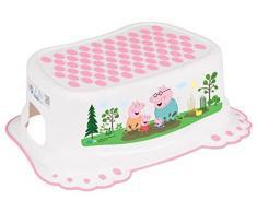 Passo Sgabello Sicuro Anti-scivolo Bambini Allenamento Toilette per i più Piccoli Vasino - Peppa Pig Rosa