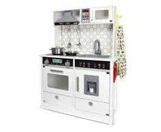 Leomark Cucina in Legno Bianca Elettronica Giocattolo per Bambini Modern White