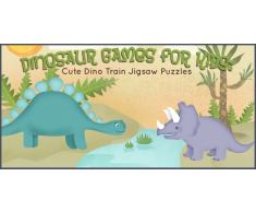 Giochi con Dinosauri per Bambini: Puzzle con il Simpatico Treno Dino
