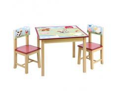 Guidecraft - Set tavolino e sedie per bambini, decorato con gli animali della fattoria