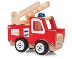 Legno naturale verniciato camion giocattolo di legno