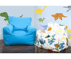 Lancashire Textiles Kids Mini Pouf/sedie per Ragazzi e Ragazze Drill Blue
