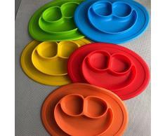 Set tavolo in silicone/Un ciotola per bambini, neonati e bambini, portatile, un, senza BPA attraverso FDA zugelassenes Stoviglie, spuelmaschinentauglich, mikrowellentauglich