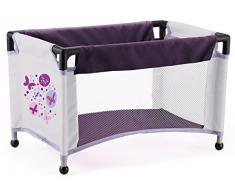 """Bayer Design 13001B - Set di carrozzina e lettino """"Piccolina"""", per bambole, colore: Viola"""